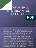 Metabolismul Intermediar Al Lipidelor