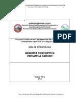 Memor Descript Prov Paruro Dic 2012