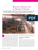 Introduction to Energy Recovery Device (ERDs) for SWRO systems