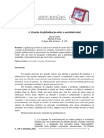 05092013 CERUTTI, Luiza; CITOLIN, Michele - A Atuacao Da Globalizacao Sobre a Sociedade Atual