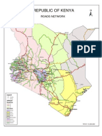 Kenya Roads Network Map