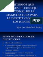 Destitucion de Magistrados