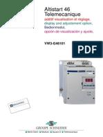 Altistart 46 VW3G46101 Display and Adjustment En