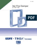 Shutter Fire Damper Type FSD FSP FSE