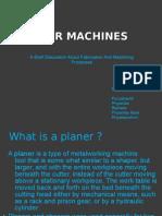 Planer Machine Ppt