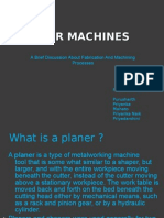 Planer Machine Ppt