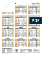 2015 Calendar Portrait Year Overview Letter