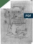 Mi Sistema de Arnold Krumm-Heller