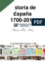Ejes cronológicos España 1700-2011