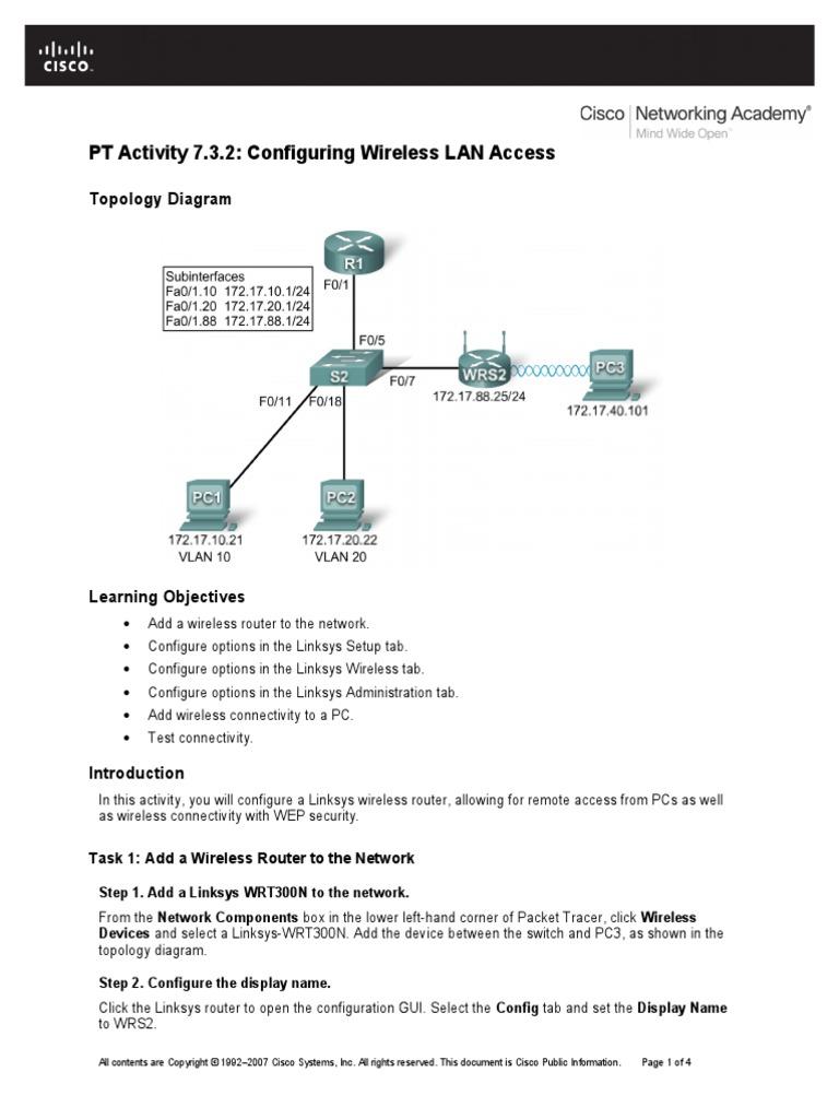 ESwitching_PTAct_7_3_2.doc | Wireless Lan | Router (Computing)