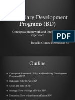 Beneficiary Development Programmes