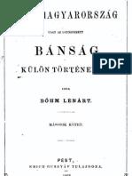 Böhm Lénárt - Dél-Magyarország vagy az ugynevezett Bánság külön törtenelme (2)