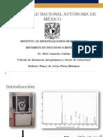 EXPODistancias Interplanares y Factor de Estructura