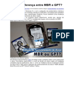 Qual a diferença entre MBR e GPT