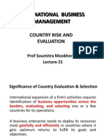 IBE NDIM Country Risk and Evaluation Lecture 21