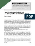 Modelo de Inflación Objetivo de Walsh