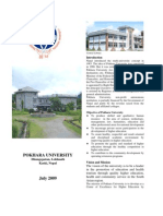 Brochure of Pokhara University