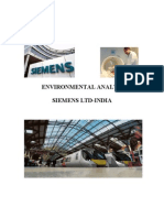 Environmental Analysis Siemens Ltd-India
