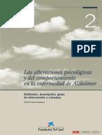 Las Alteraciones Psicologicas y Del Comportamiento Del Alzheimer