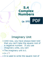 5.4 Complex Numbers