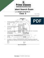 Class VIII Paper