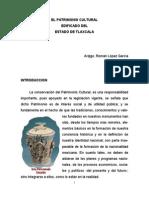 El Patrimonio Cultural Edificado Del Estado de Tlaxcala