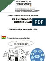 Planificacion Curricular Cbba, 22 de Enero 2014