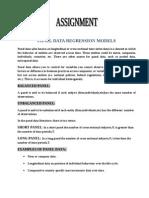 Panel Data Assign