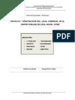 2.-Especificaciones Tecnicas de Arquitectura de Pachangara