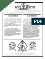 Earnest Farms- General Info Sheet