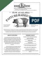 Earnest Farms- Pork Info Sheet