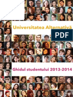 Universitatea Alternativa - Ghid Studenti 2013