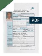Contoh Formulir Pendaftaran JENESYS Ardiansyah