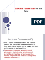 The Resource Based View of the Firm
