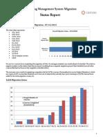Canvas Migration Status Report