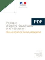 Feuille de route - Politique d'égalité républicaine et d'intégration