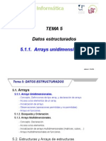 INF T5 1 Arrays Unidimensionales.ppt