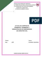 Ley de Bomberos y Bomberas Realizado Por Elshahely Uzcategui