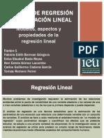 Análisis de Regresión y Correlación lineal