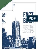 2013-14 John Carroll University Fact Book