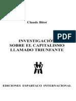 2002 Investigacion Sobre El Capitalismo Llamado Triunfante Claude Bitot