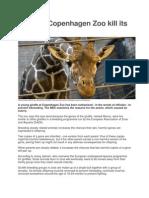 Zoo Giraffe Put Down to Stop Inbreeding