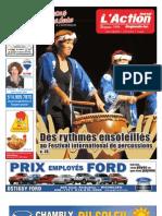 Journal l'Action Régionale - Édition du 7 juillet 2009