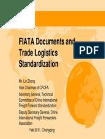 FIATA Documents and Trade Logistics Standardization