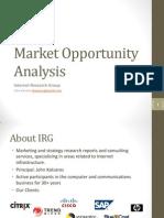 IRG-Market Oportunity Analysis
