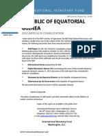 IMF Staff Report- Equatorial Guinea