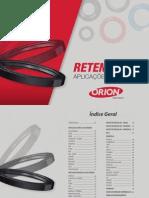 Catálogo ORION Retentores Leves e Pesados.