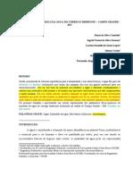 ____Análise das características físico-químicas do Córrego Imbirussu