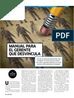 Manual de desvinculación eficiente para gerentes. Colaboración de  Ernesto Rubio para revista Aptitus