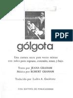 156985091 Cantata de Semana Santa Golgota PDF